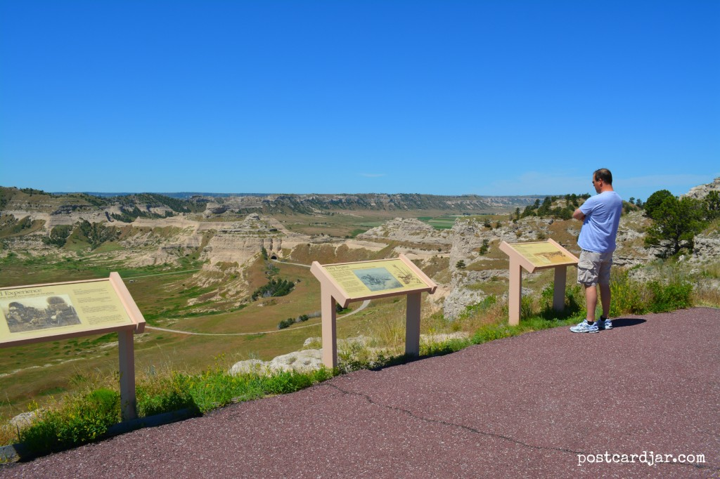 Taken at the overlook at the top of Scottsbluff Monument (Photo by Ann Teget)