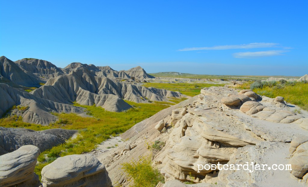 A view at Toadstool Geologic Park in northwest Nebraska. (photo by Ann Teget for www.postcardjar.com)
