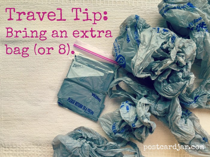 Travel Tip: Bring an Extra Bag or Eight