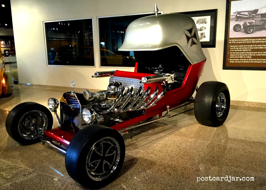 This Red Baron car was actually designed first as a Match Box car and only later, made into a full-sized replica.