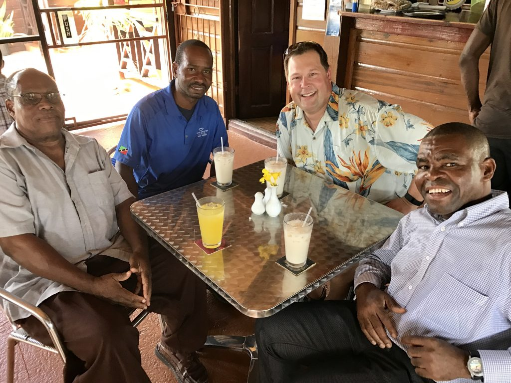 Steve and met Michael's parents for the first time when we visited St. Kitts in 2016.