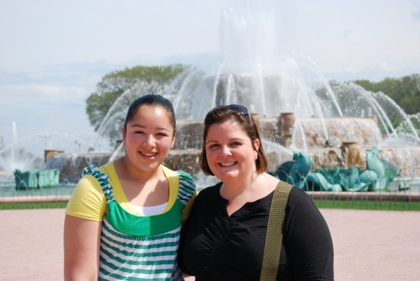 Meghan and Ann on a vacation to Chicago in 2009.