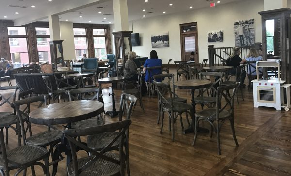 The Pioneer Woman Mercantile bakery seating area
