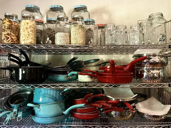 Pioneer Woman's lodge pots, pans, and mason and jars