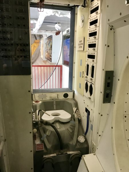 Space shuttle restroom