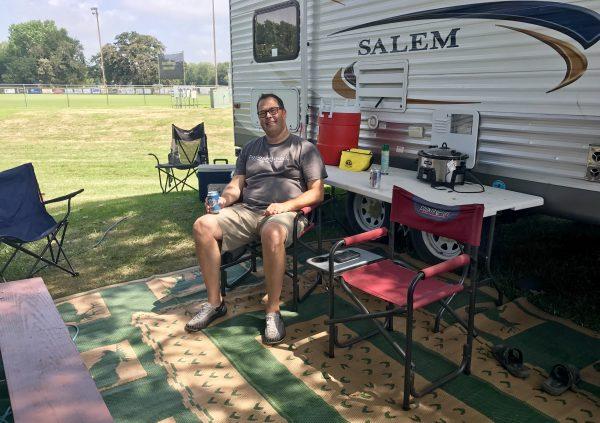 Camping in Tuxedo Park, Crete, Nebraska