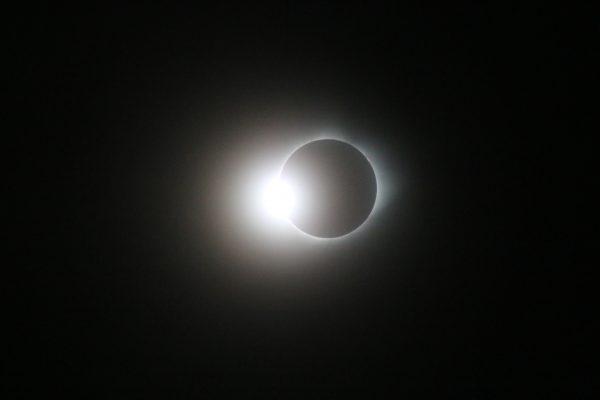 "The ""diamond ring"" effect, photograph by Ronald D. Koch in Crete, Nebraska."