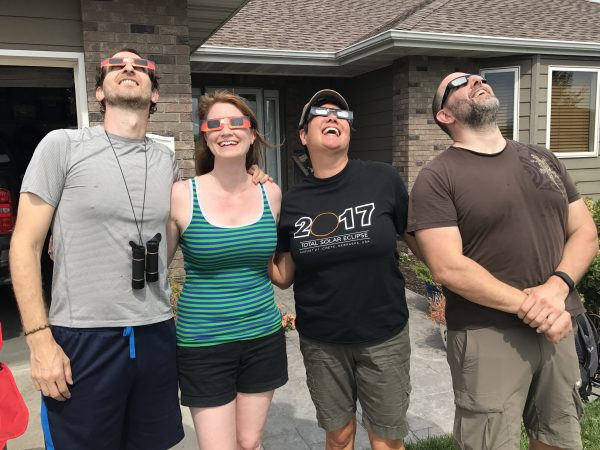 We met great people from all over the world, including these eclipse chasers from California, Nevada, and Canada.