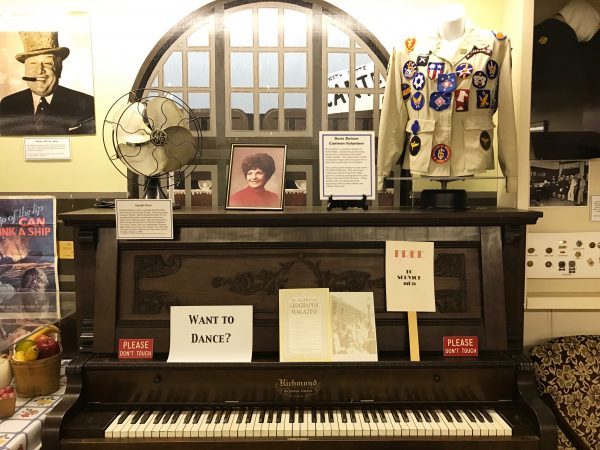 Doris Dotson played a key role in canteen and this display was in her memory.