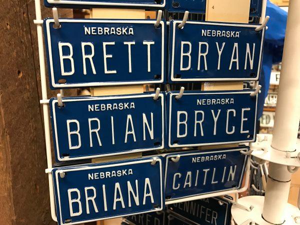 Fort Cody Trading Post bicycle license plates, North Platte, Nebraska