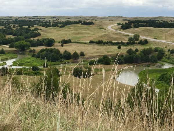Sandhills view with Dismal River, Nebraska