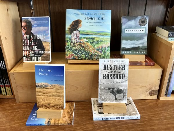 Plains Trading Company book display, Valentine, Nebraska