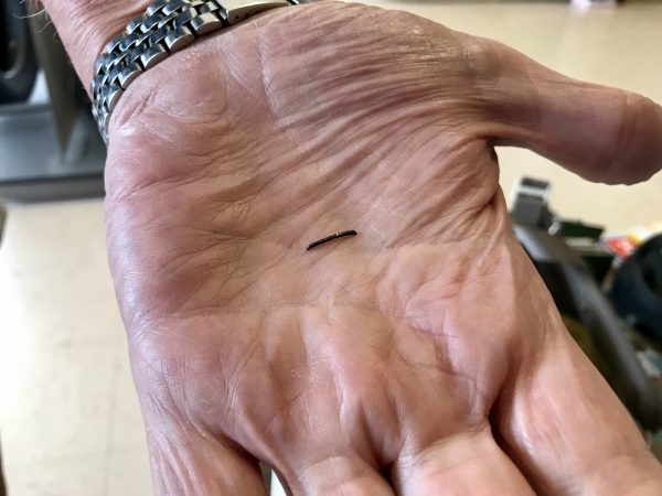 This tiny piece of metal almost ruined our day.