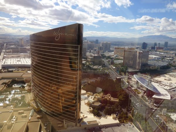 Our view from the Encore at Wynn hotel.