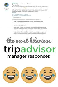 TripAdvisor's most hilarious manager responses