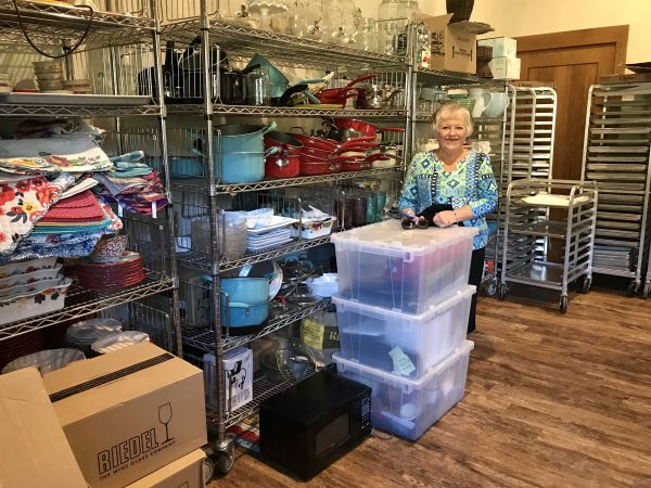 Pioneer Woman Lodge back pantry, Pawhuska, Oklahoma