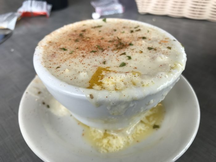Clam chowder in Oregon