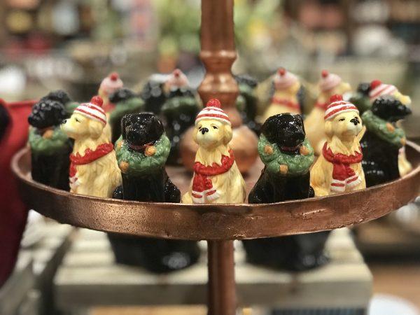 Christmas dogs, Pioneer Woman Mercantile, Pawhuska, Oklahoma