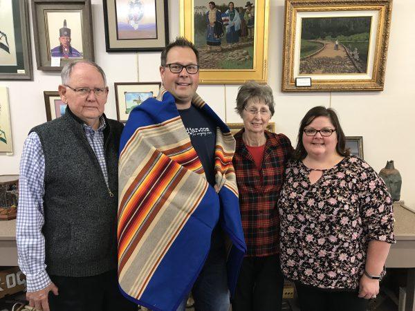 Pendleton Blanket, Clifton's Gift Shop, Pawhuska, Oklahoma
