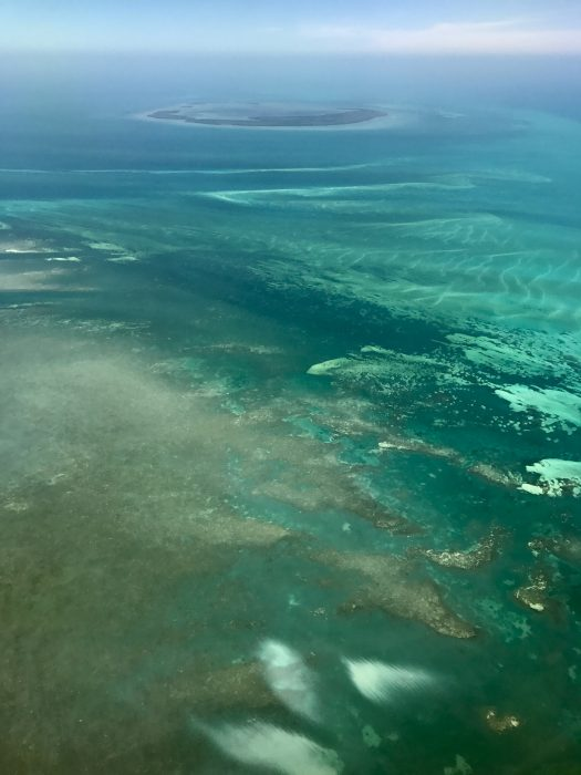 Florida Keys from the air, near Key West, Florida