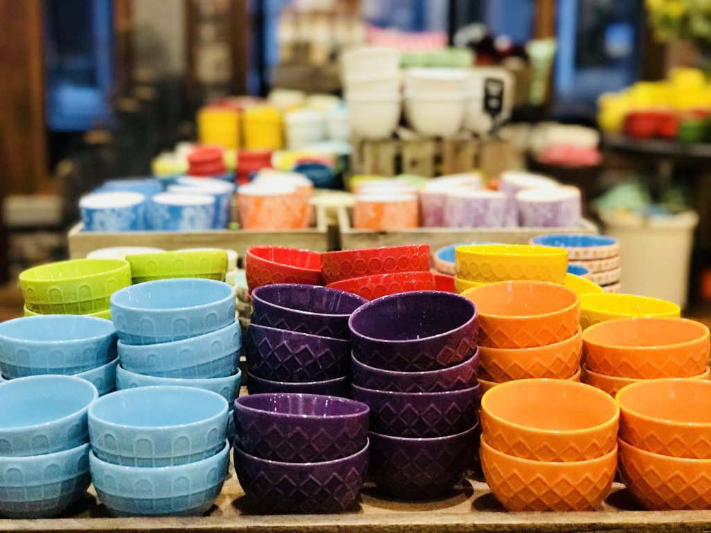 Tiny bowls at The Pioneer Woman Mercantile in Pawhuska, Oklahoma.