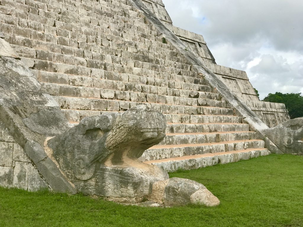 Chichén Itzá, base of main pyramid, Mexico