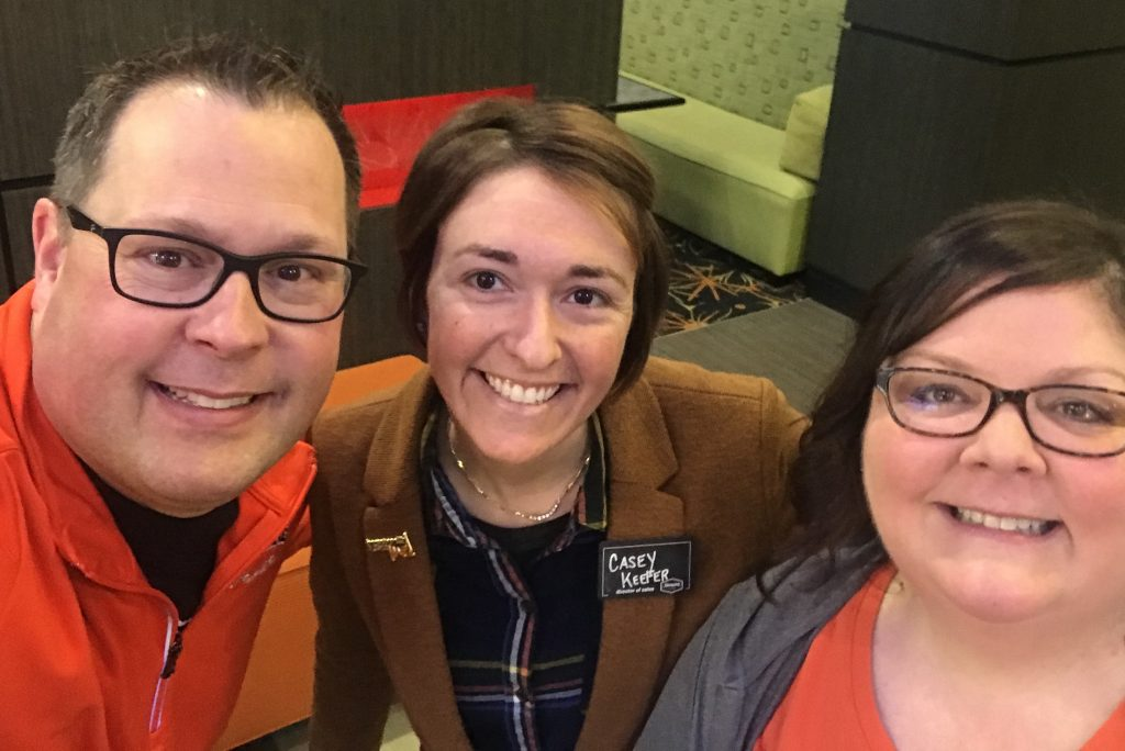 A quick selfie with Hampton Inn - Tulsa Central Director of Sales, Casey Keeler.