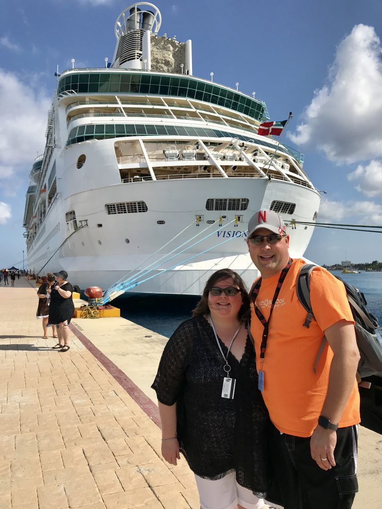 Vision of the Seas in Cozumel, Mexico