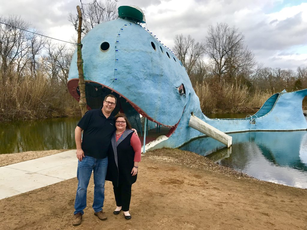 Our obligatory pic at The Blue Whale of Catoosa.