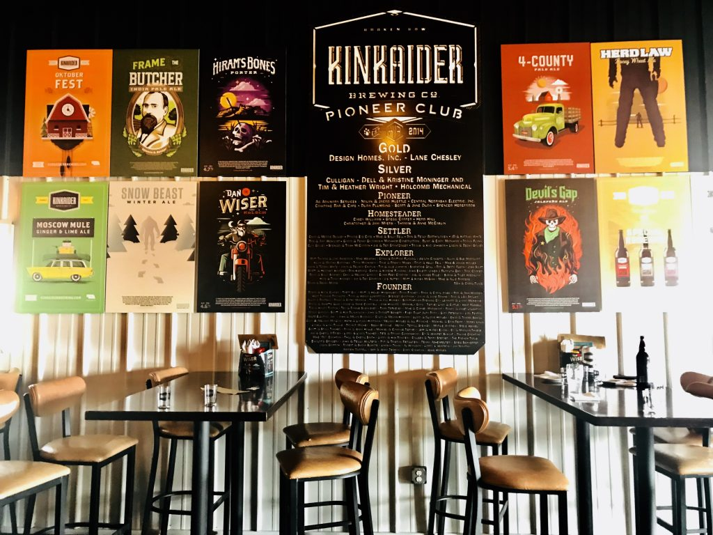 Kinkaider Brewing company taproom, Broken Bow, Nebraska