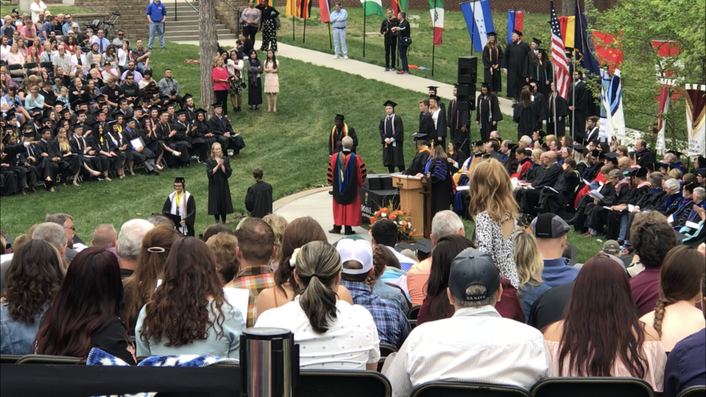 2018 commencement at Doane University in Crete, Nebraska.