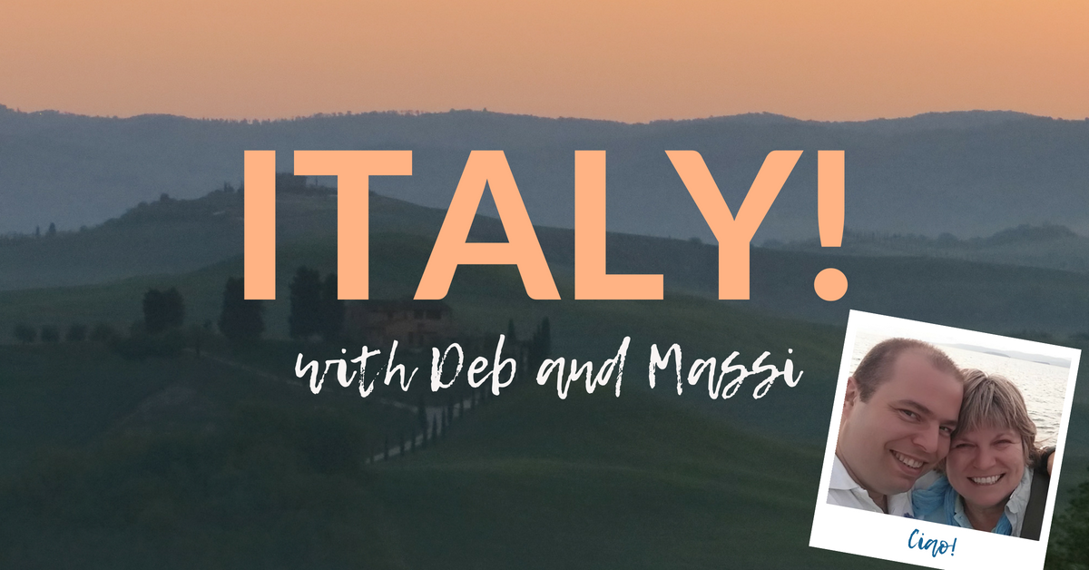 We've been invited to tour Italy with Deb and Massi the Driver and we can't wait!