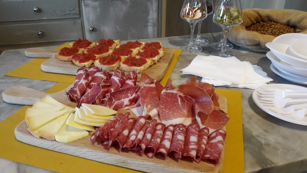 Italian meats ready to be served