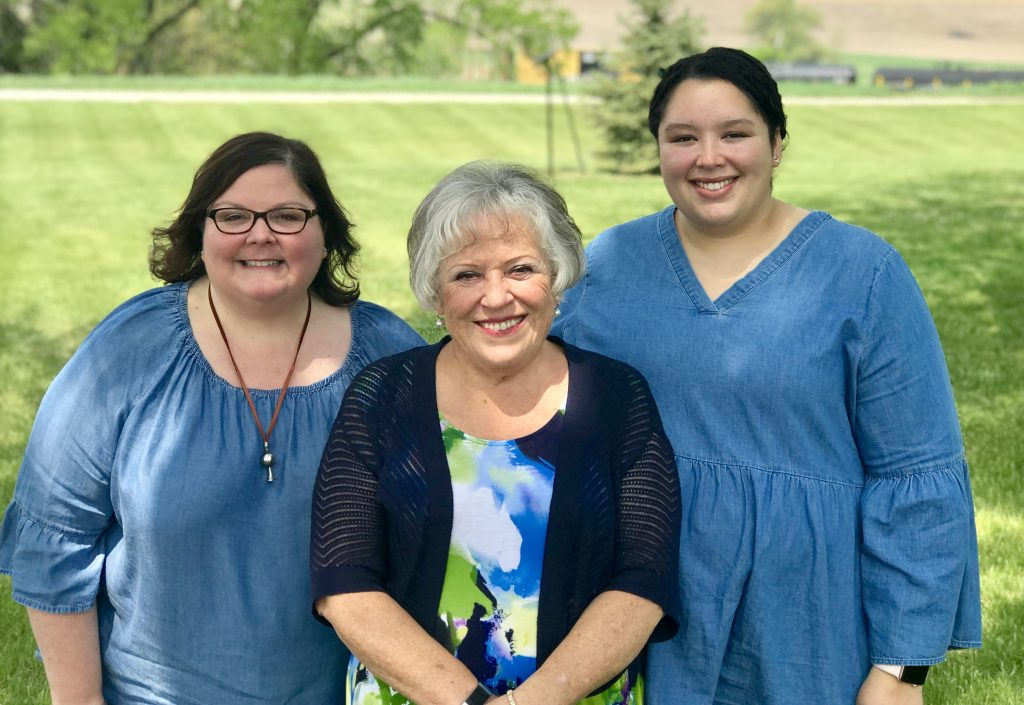 Ann with her mom, Carol, and our daughter, Meghan on Mother's Day.