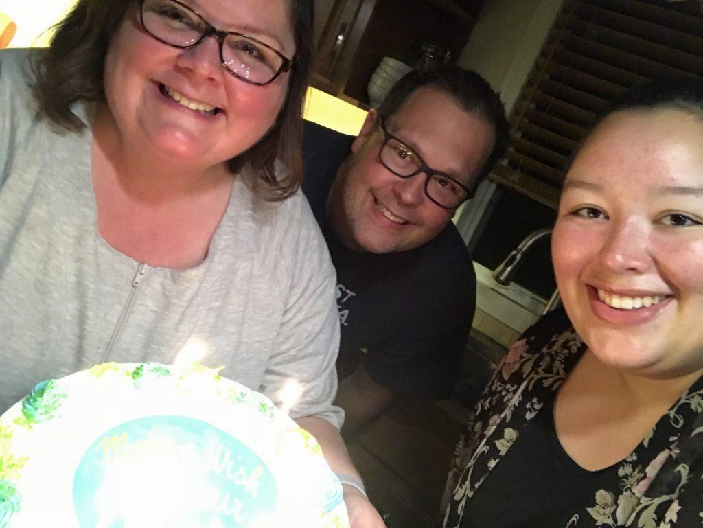 Birthday cake selfie