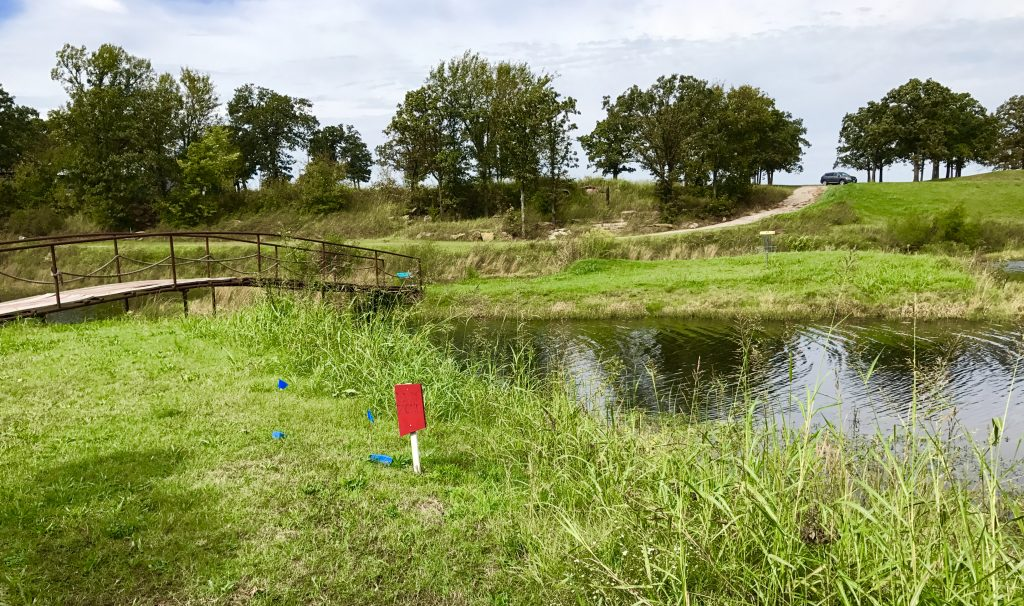 Taylor Ranch disc golf course in Pawhuska, Oklahoma.