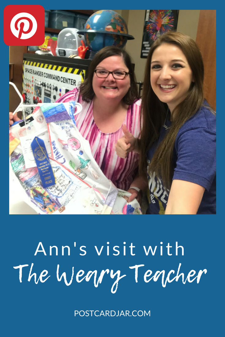 Ann's visit with The Weary Teacher