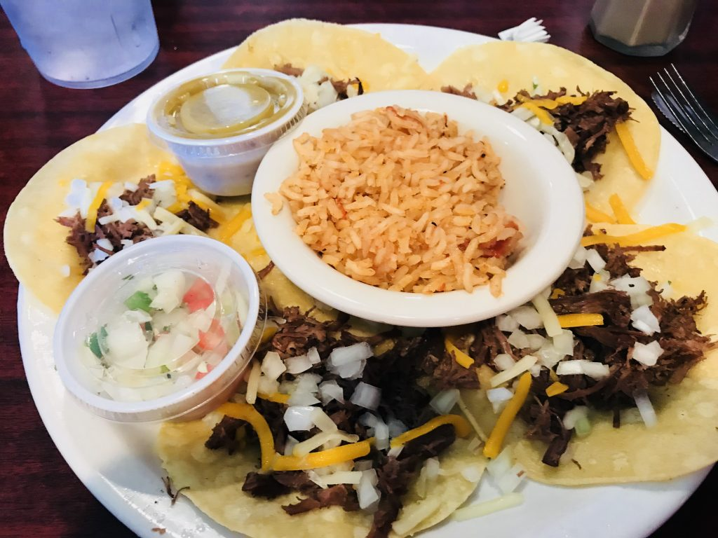 The street tacos at Buffalo Joe's are outstanding and so are the breakfast burritos.