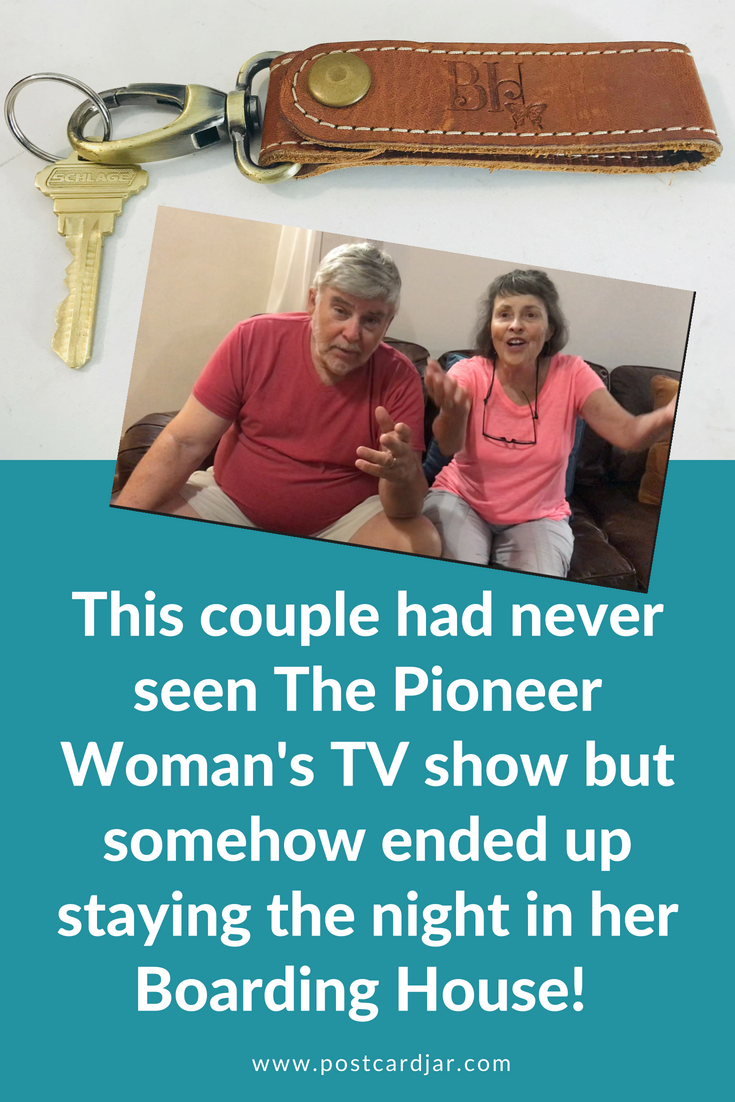 We ran into Claude and Kathy at The Pioneer Woman Boarding House in Pawhuska, OK, and couldn't believe their story of how they ended up staying there.
