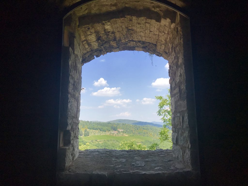 Tuscany through a window