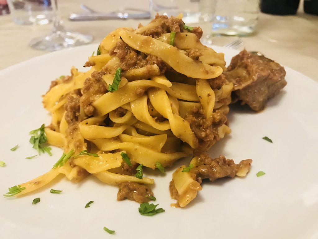 Pasta course, Villa Ambra, Montepulciano