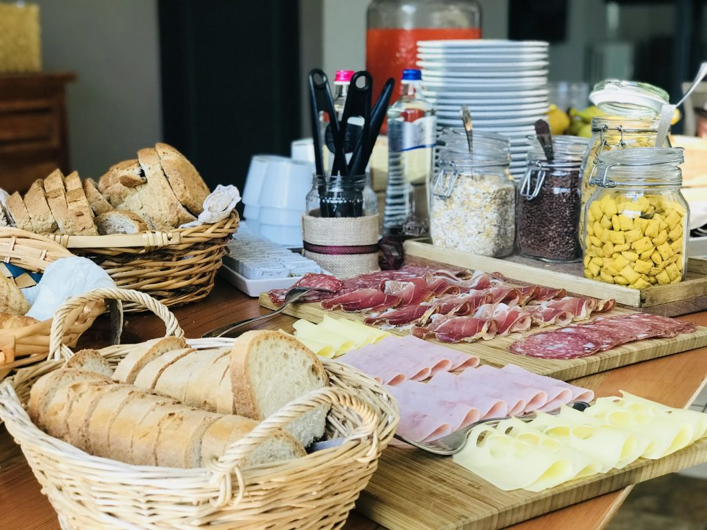 Breakfast buffet, Villa Ambra, Montepulciano