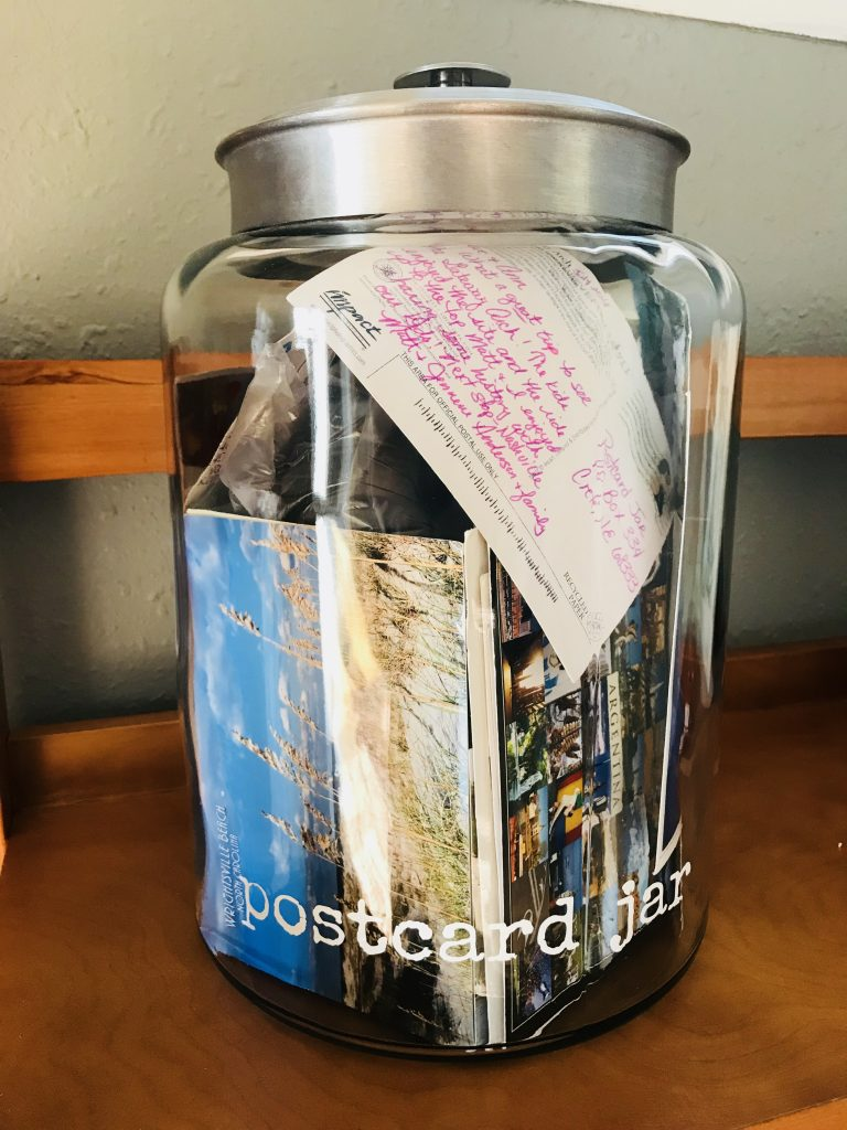 Pawhuska house postcard jar