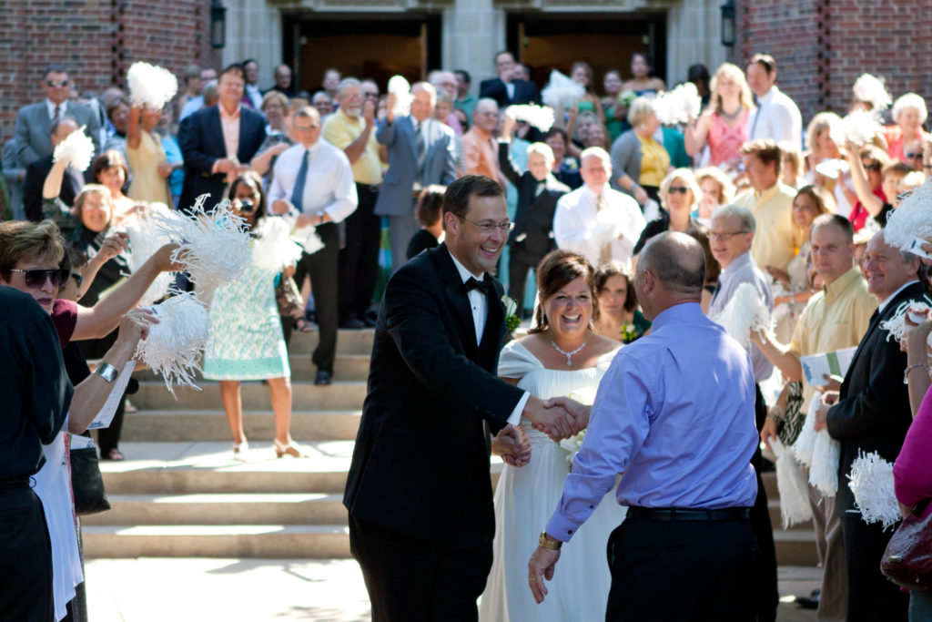 What a joy to come out of the church and celebrate our marriage with so many family and friends.