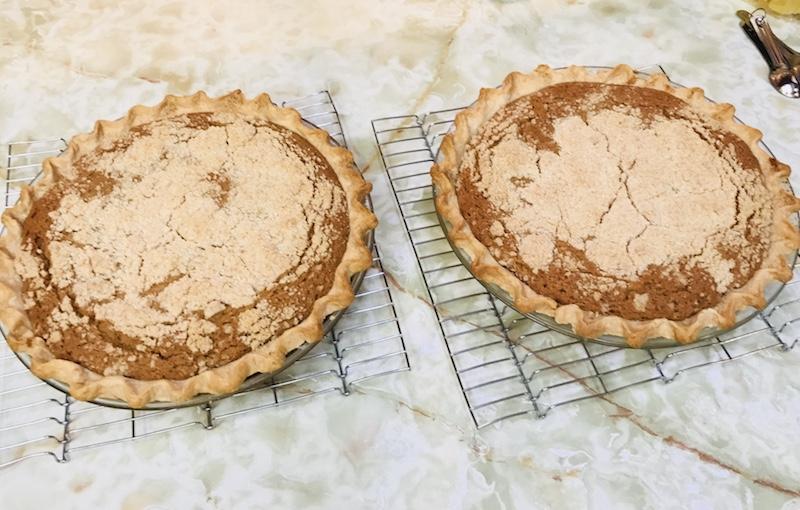 Mr. Reber's homemade shoo fly pie.