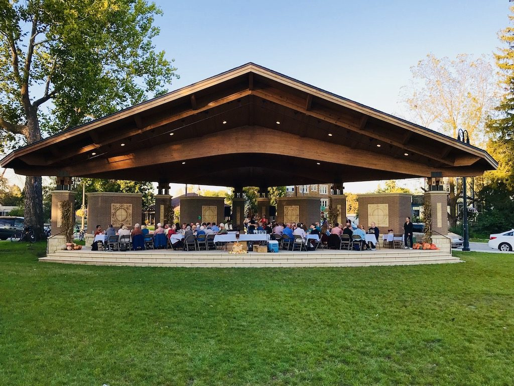 Grinnell Iowa Central Park bandstand