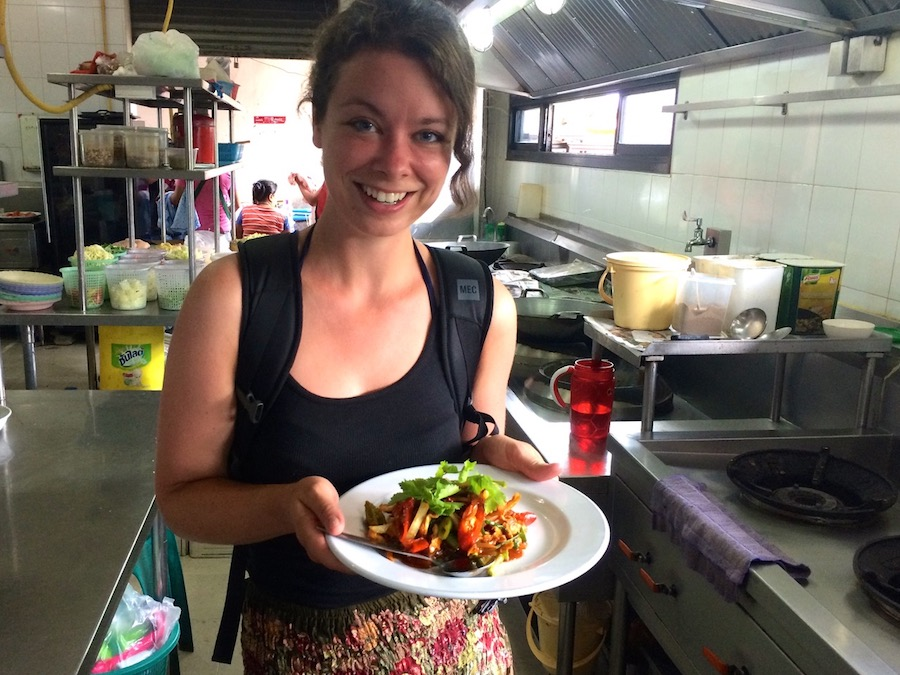 Jenn found her way into a chef's kitchen in Thailand and he taught her to make this colorful dish.