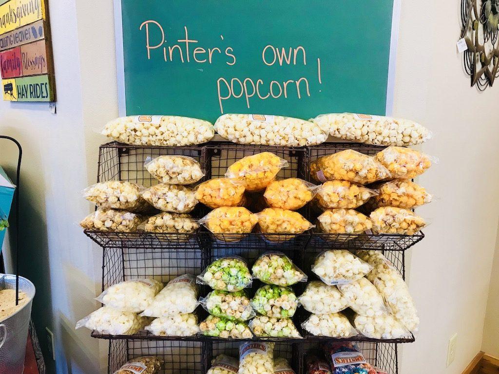 Popcorn at Pinter's Gardens and Pumpkins, Decorah, Iowa
