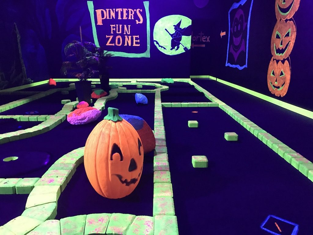 Mini golf at Pinter's Gardens and Pumpkins, Decorah, Iowa