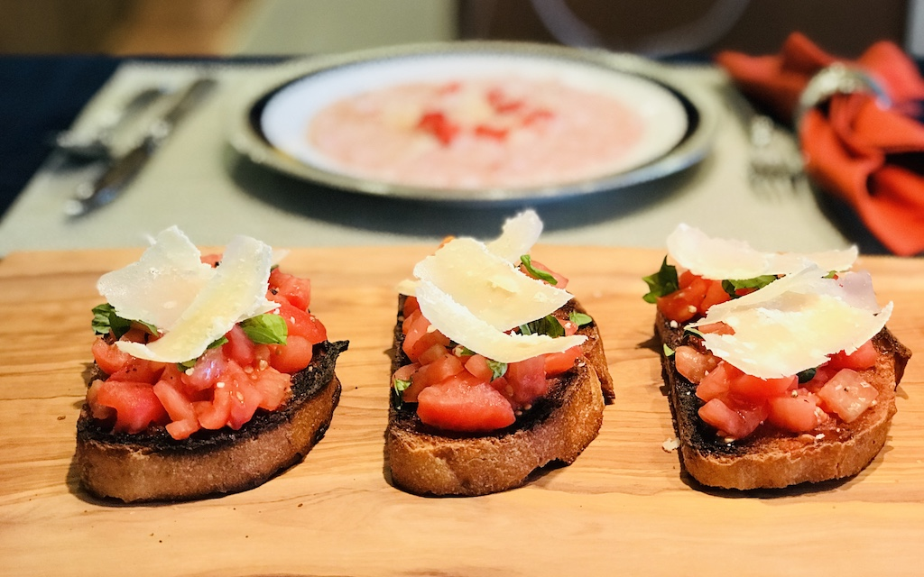 Bruschetta with Parmigiano-Reggiano cheese